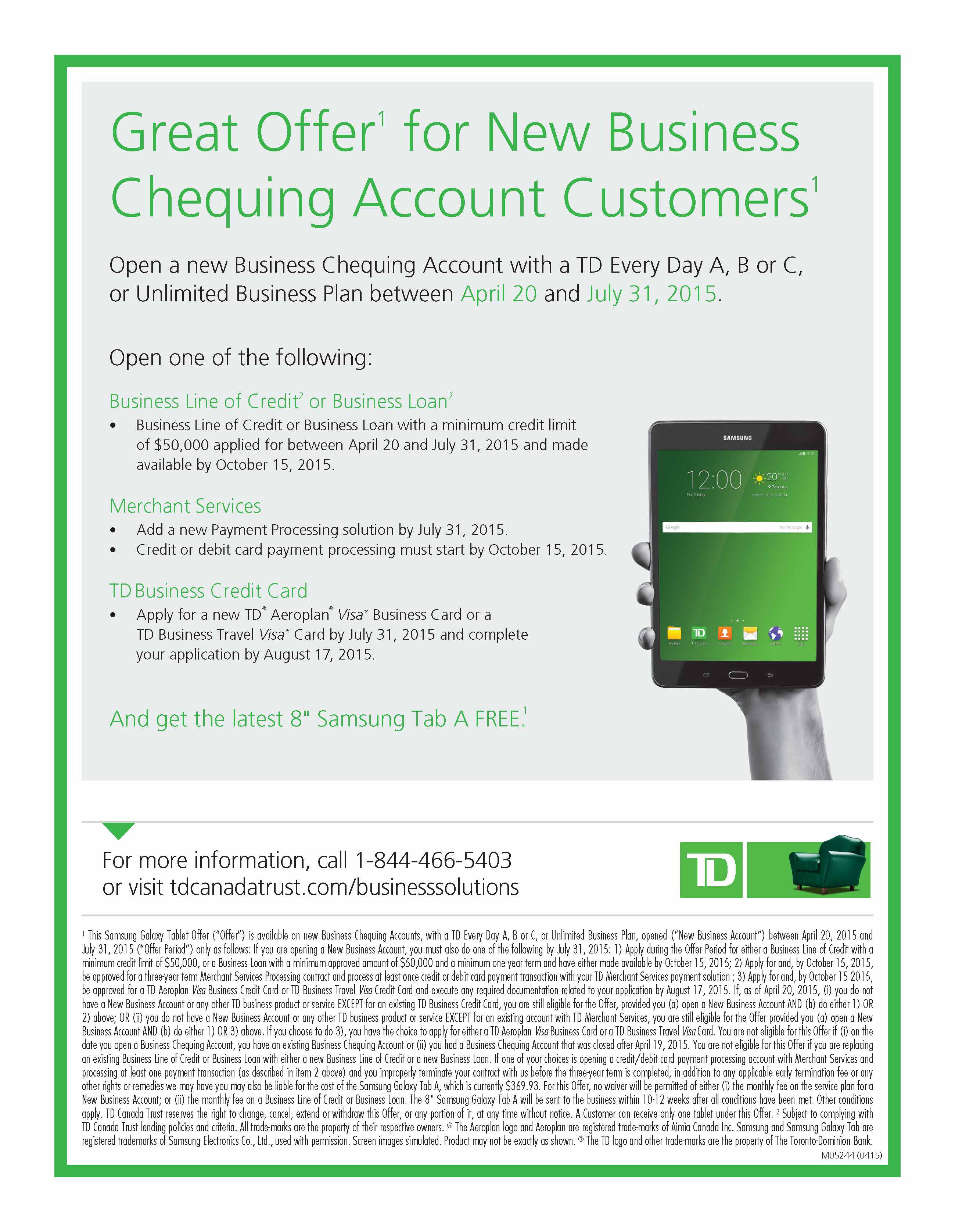 Awesome Photograph Of Td Bank Business Credit Card - Business ...